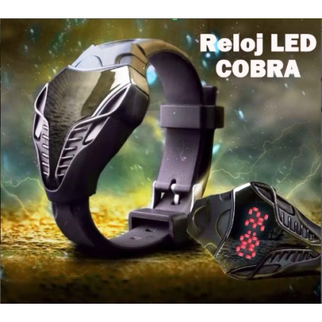 Reloj Led Cobra Con Luces Led Color Plomo