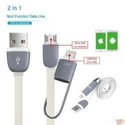 Cable Usb de Carga Duo para Iphone y Micro sd V8 o iphone con filtro